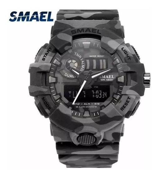 Relógio Smael Original Camuflado Militar Polícia - Tático