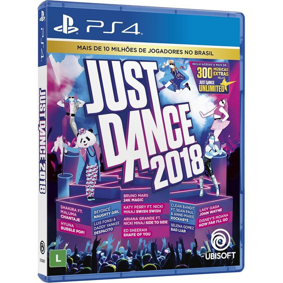 Just Dance 2018 Ps4 Mídia Física Novo Lacrado