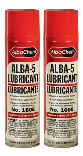 Alba 5 Lubricante Mineral En Spray -albachem Para Bordadoras