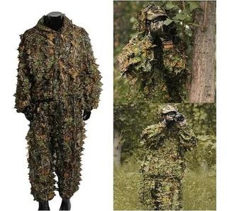 Roupa Camuflada Ghillie Suit 3d - Caça Pesca Airsoft Sniper