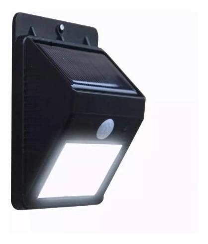 Lampada Solar Sem Fio Sensor Parede 20 Leds 12 Horas Noite