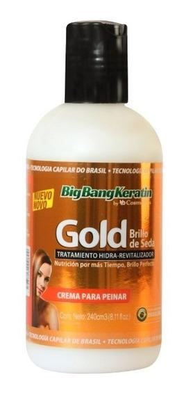 Crema Para Peinar Keratina Gold Brillo Seda Bigbangkeratin
