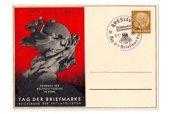 Alemania 3º Reich Entero Postal Dìa Del Sello 1938