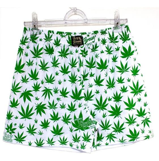 Cueca Samba Canção Cannabis Maconha Marijuana Branca Rb
