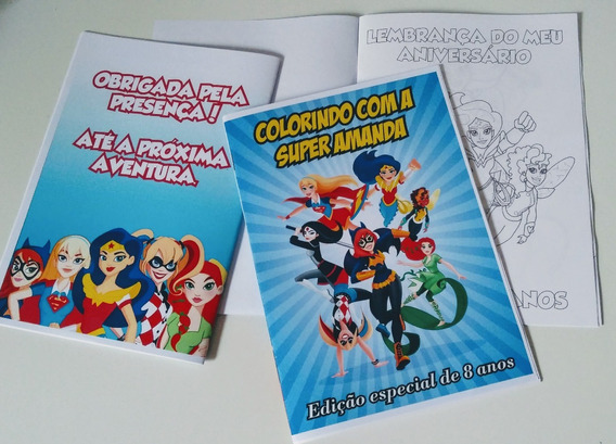 70 Livros De Colorir Personalizado + Giz De Cera