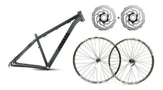 Kit Quadro Aro 29 Rava Pressure 17 + Rodas Montagem Bike Mtb