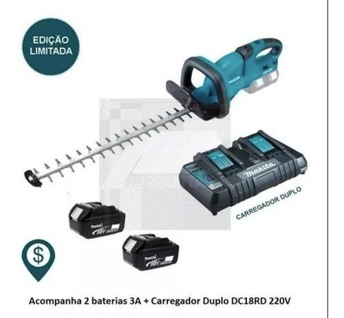 Aparador De Cerca Viva A Bateria Duh551z Makita + Acessorios