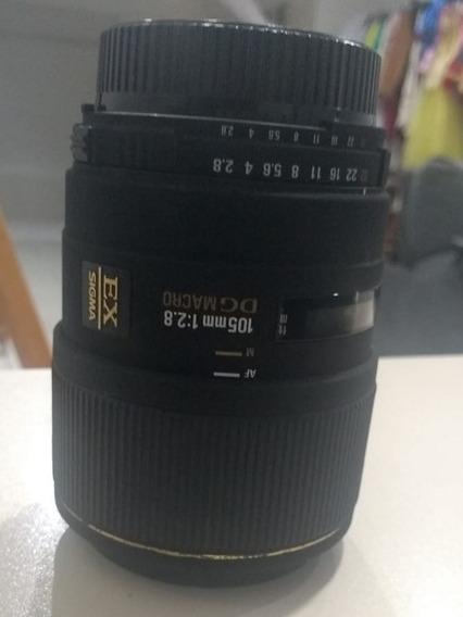 Lente Sigma Macro 105mm F/2.8 Ex Dg Os Para Câmeras Nikon Af