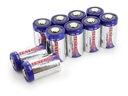 Bateria/pilha Tenergy Cr123a 3v 1400 Proteção Ptc Pack 10