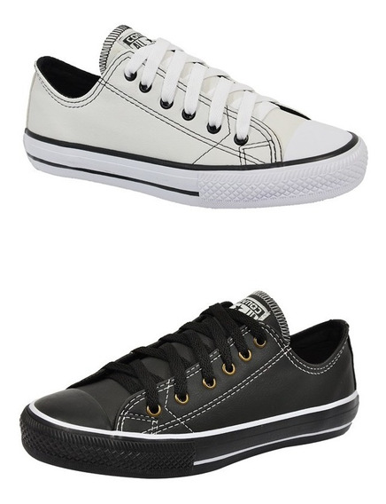 Tenis All Star Couro Ecologico Unissex Kit 2 Pares
