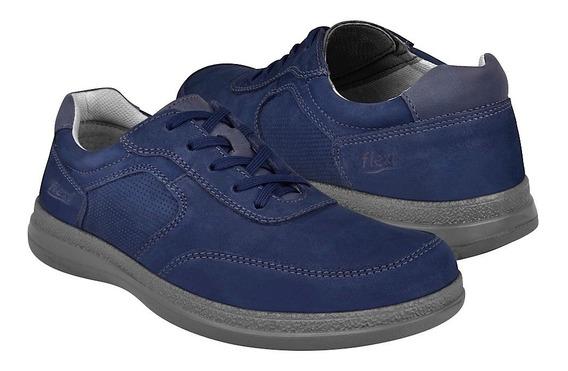 Zapatos Casuales Para Caballero Flexi 50604 Azul