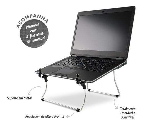 Suporte P Notebook Regulável - Reliza - Nr17 - Cromado