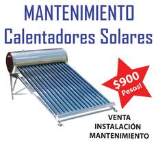 Mantenimiento De Calentador Solar