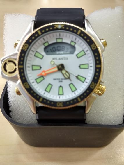 Relógio Atlantis Original Masculino Estilo Aqualand Frete Gr