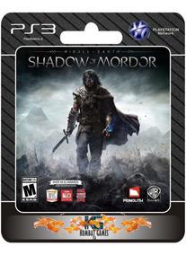 Sombras De Mordor Edição Legião -ps3- (digital) *