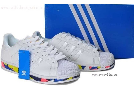 adidas Superstar Ii Picasso Bottom Mosaic Blanco