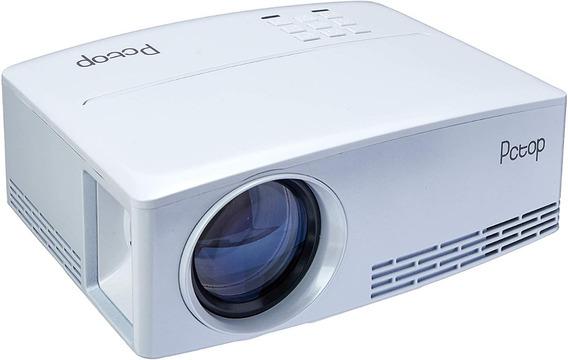 Mini Projetor Pctop Gp80 2000 Lumens Svga Hdmi 2xusb Branco