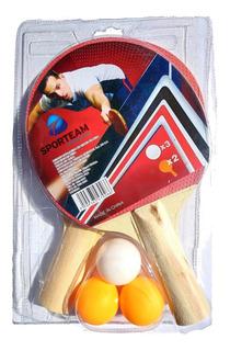 Kit 2 Raquetas De Ping Pong Y Pelotas Paquete