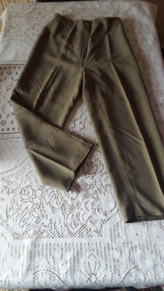 Pantalon De Mujer Verde Militar Talle 40