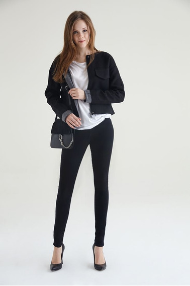 Calças (feminino) - High Waist Skinny Jean