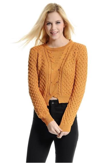 Pullover Feminino Tecido (suéter) - Woven Crop Jumper