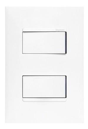 Imagem 1 de 4 de Interruptor Paralelo + Pulsador 4x2 Branco Pial Plus +