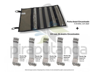 Porta Anzol Empate + Anzol Encastoado 1/0 2/0 3/0 4/0 5/0
