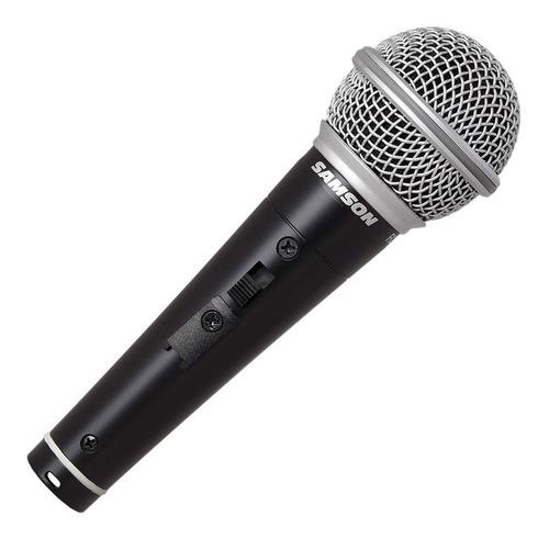 Micrófono Dinámico Samson R21s Con Switch Y Cable Xlr-plug