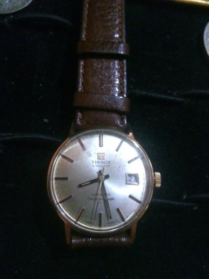 Relógio Tissot Automático Visiodate Em Ouro Maciço