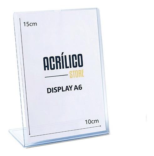 Display De Pvc Tipo L A6 Vertical (10x15cm)