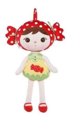 Boneca Metoo Doll Bala Kappel Grande Doce Vermelha