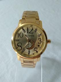 Relógio Feminino Dourado Atlantis B3329 Original