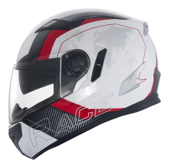 Capacete Zeus 813 Race An10 White/red Special Edition 61/xl