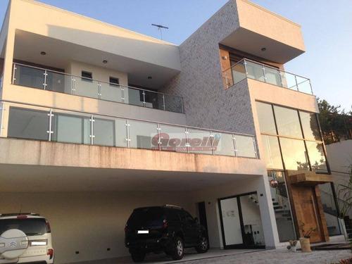 Casa Com 4 Dormitórios À Venda, 720 M² Por R$ 3.800.000,00 - Condomínio Hills I E Ii - Arujá/sp - Ca0862