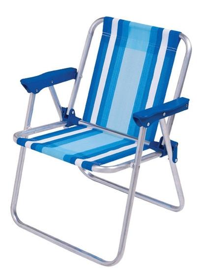 Cadeira Alumínio Infantil Alta 2121 Azul Mor Mor