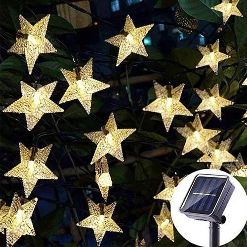Imagen 1 de 7 de Luces Navideñas Solares Cadena  Guirnalda 22 Metros 200 Pcs