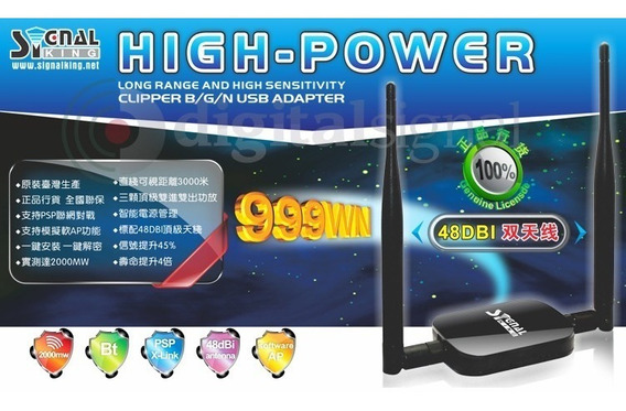 Adaptador Wifi Usb High-power Signal King 999wn 48dbi