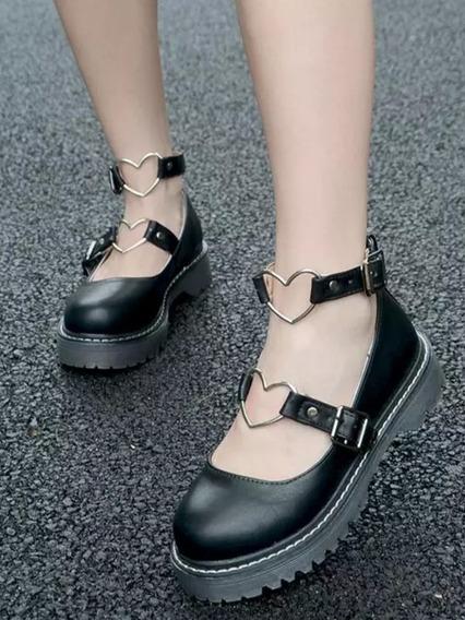 Sapato Lolita Vintage Cosplay Harajuku Kawaii