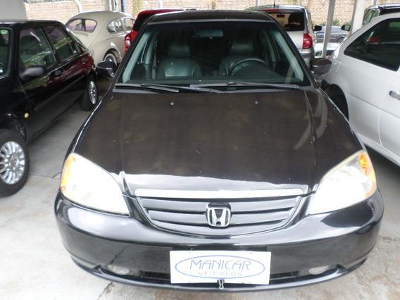 Civic Lx 1.7 Preto Completo 2003