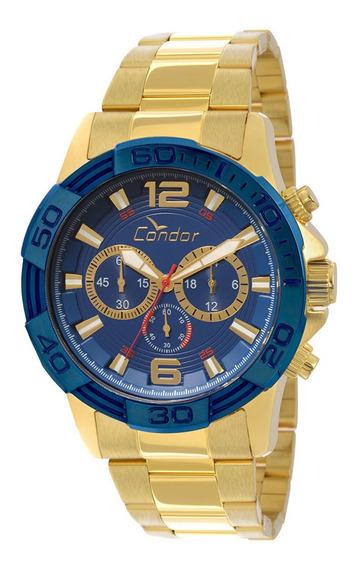 Relógio Masculino Condor Cronógrafo Dourado Covd54aa4a