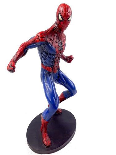 Imagem 1 de 6 de Personagem Filme Homem Aranha Em Resina Azul Vermelho