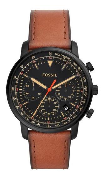 Relógio Masculino Fossil Goodwin Fs5501/0pn 44mm Marrom