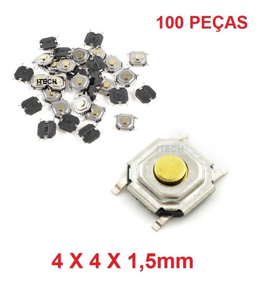 100 Pçs - Botão Táctil Micro Chave Controle Vw - Gol / Fox..