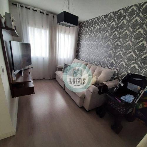 Imagem 1 de 22 de Apartamento No Residencial San Marco Com 62m² Composto 2 Dormitórios Com Planejados 1 Suíte, À Venda Por R$ 320.000,00 - Independência - Sbc/sp - Ap1889