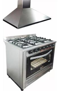 Combo Cocina Industrial Fornax + Campana Motor 90cm Ahora 12