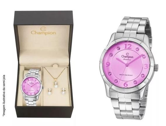 Relógio Champion Cn29909r O R I G I N A L + Kit Brinde + Nf
