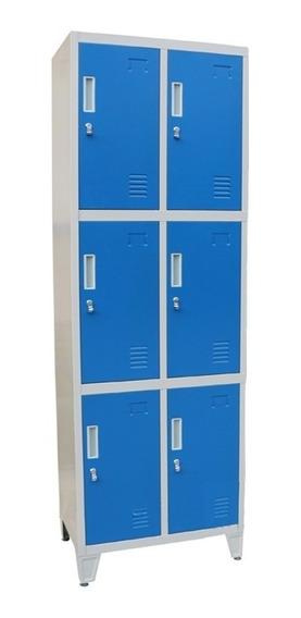 Guarda Bultos Locker Prontometal 6 Puertas Cortas Metálico