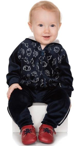 Roupa De Bebê Menino Conjunto Longo De Plush Casaco E Calça