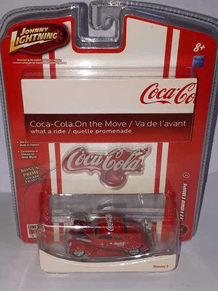 Johnny Lightning Coca Cola On The Move Ford Coupe ´37 N°3