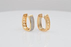 8e744358f8c0 Arete Chapa De Oro 18k Chispa De Diamante Piedra Zirconia